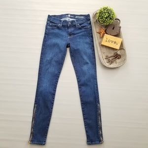 7 For All Mankind Gwenevere zippers skinny jeans